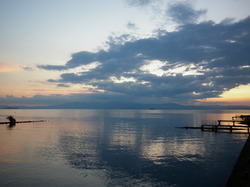Lake Biwa Sunset|by Tbohn