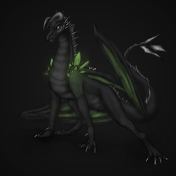 Virith Glows in the Dark|by Rurikredwolf