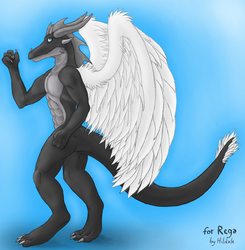 Rega with his wings|by Rega256