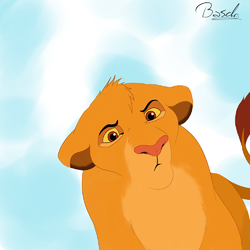 Simba is looking upon you ~(o3o~ )|by Basch