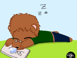 Sleepy bear|by Animawolf