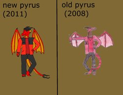 old and new comparison|by pyrus5
