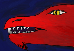 Electronically Painted Red Dragon|by Drakkin