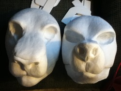resin head bases for my commissioners|by ShweeWolfCraftz