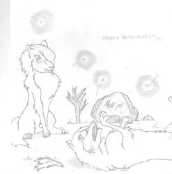 Happy Valentines Day!!|by Shooting Star_Wolves