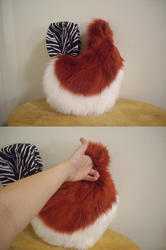 Red husky tail commission -DONE-|by ShweeWolfCraftz