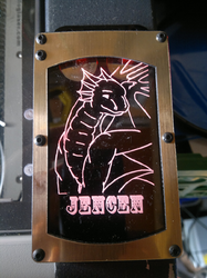 Jencen - Laser Engraved Large LED Badge|by Funlaser