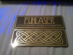 Lasered collar badges.|by Funlaser