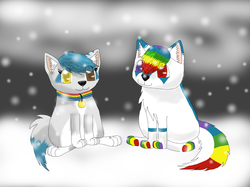 Chibis in the Snow|by Frostpawz