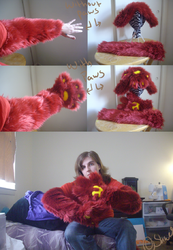 arm sleeves and hand paw -personal done-|by ShweeWolfCraftz