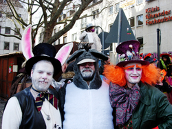 Marchrabbit donkey and hatter in Cologne|by Anton de Asno