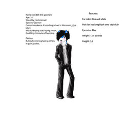 Ian: Character Info. Picture version (My life as a furry)|by Bell_the_gaomon