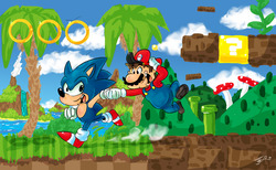 Sonic and Mario ( Most Original Title Ever)|by Floatinghat