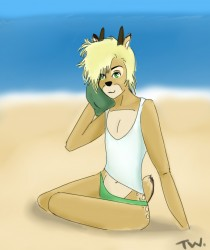 Deer at the beach~|by TatsuWoo