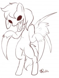 random creepy pony sketch