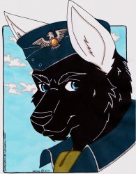 Pilot Adam White by Neomi the Kissatous|by Army Wolf