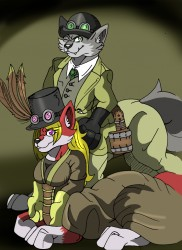 Ty & Emily Vulpintaur in Steampunk (Unframed)|by TyVulpine