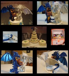 Dragon Wedding Cake Topper|by hunterwolf