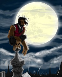 Rooftop Ruminations of a Victorian Gentleman Lycanthrope.|by TakenakaSan