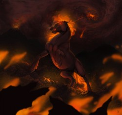 Fire horse|by Black_Berry