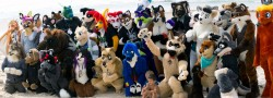 FurDU 2012 Fursuiter Beachmeet Group Photo|by Spaxe