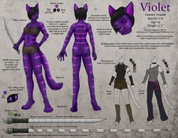 Violet Ref Sheet|by WingedZephyr