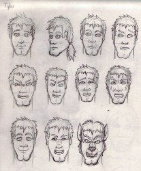 Wolves At Our Door: Tyler's Face Sketches|by Silvermane77