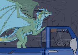 Truck Ride for a Dragon|by Ausfer