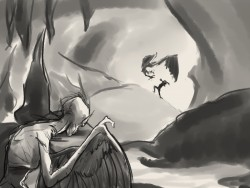 30 minute Sketch - Harpies' Cave|by TKay