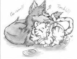 Wolfy and little tiger|by Milo_No_Scorpio