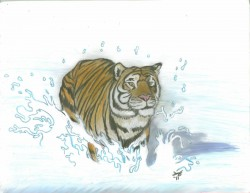 tiger chase|by Uzukitty