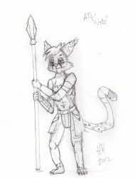 Atl the Pirate (Pencils)|by Coyote42