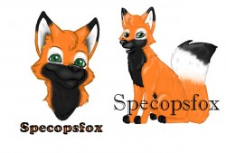 Specopsfox badge|by Kandi_Specopsfox
