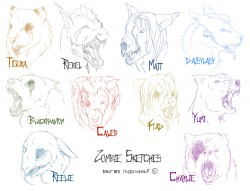 Zombie Sketches|by IndiWolf