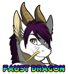 Muzz Faust Dragon Badge|by crazyhusky