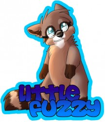 Fuzzy Conbadge|by Devon Bearcoon