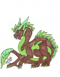 Earthy dragon|by weird dragon
