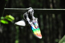 Hanging Shoes|by Douglas Fontaine