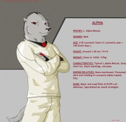 Ref Sheet 3: Alpha|by GTHusky