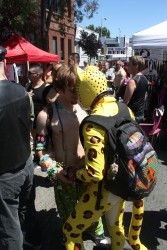Spotti (in Rubbersaber) and Wildchild at the Dore Alley Street Fair|by spottacus