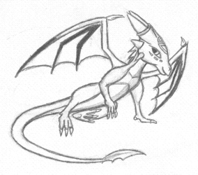 Cynder sketch|by FrostDragon