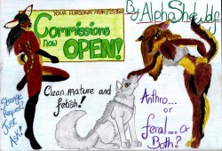 Commissions now OPEN!!!|by SexySheWolf