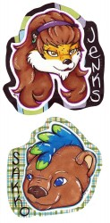 Pair o' Sparkly Badges (Jenks/Wildmark)|by dragonmelde