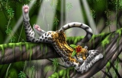 Orchid the Ocelot ($10 Print)|by PrincessRei