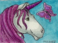 Unicorn ACEO|by Mazz