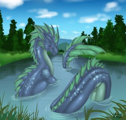 Water dragoness|by RedRaptor