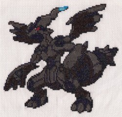 Cross-Stitch - Zekrom|by Sandwalker
