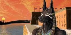 Anubis at the River Temple|by C_A_Prod