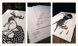 Selling Limited Edition Linocut Prints ~ $10 flat|by SarahGrey