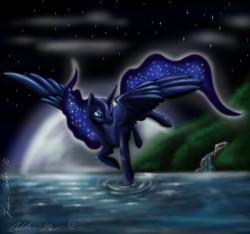 Princess Luna|by Lobana Belargio